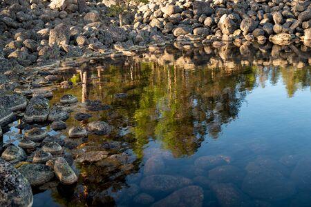 Shore with rocks Foto de archivo
