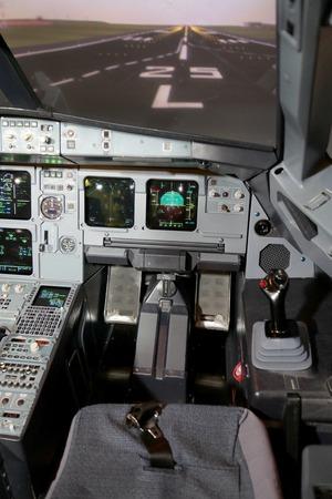 Cockpit interior view