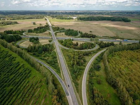 Aerial view of highway traffic Reklamní fotografie