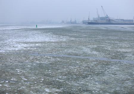 Harbor view in winter