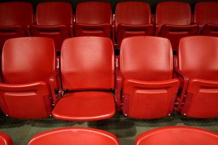 Empty red seats in stadium Zdjęcie Seryjne
