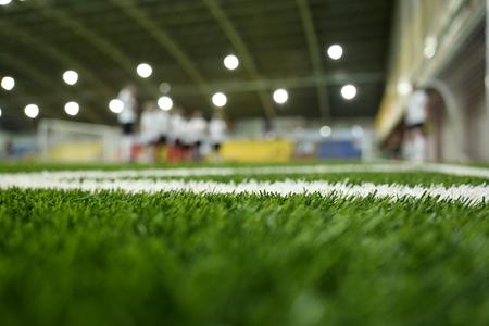 Closeup of football grass