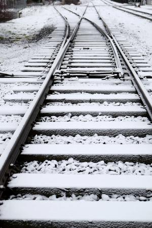 Railway track in winter