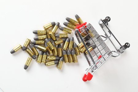 Gun bullets in shopping cart