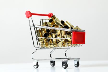 Gun bullets in shopping cart