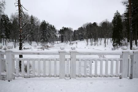 Fence covered by snow Zdjęcie Seryjne