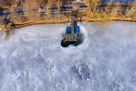 Aerial frozen water