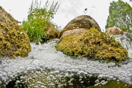 River stones landscape