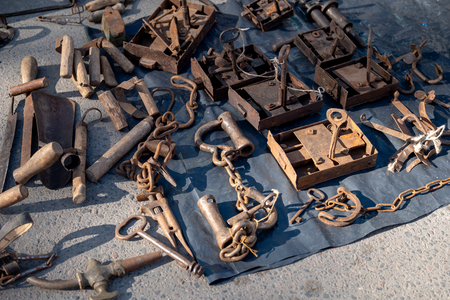 Old locks and keys 写真素材