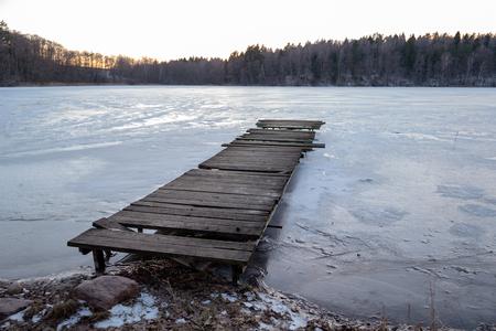Old wooden pier 写真素材