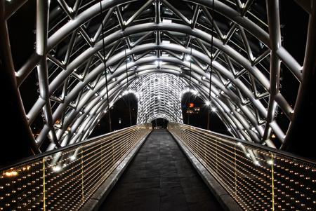 pedestrian bridges: The Bridge of Peace Stock Photo