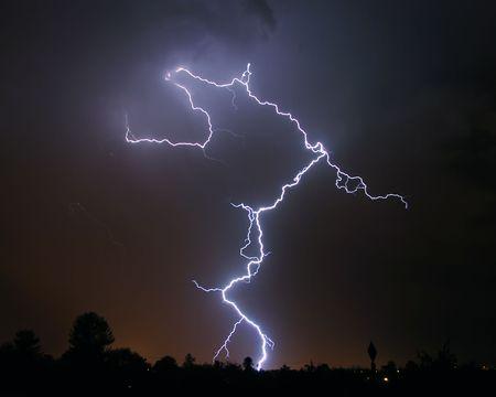 severe weather: Lightning over desert