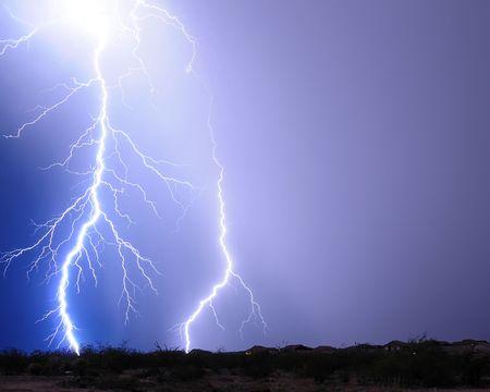 Desert Lightning Imagens - 3391487