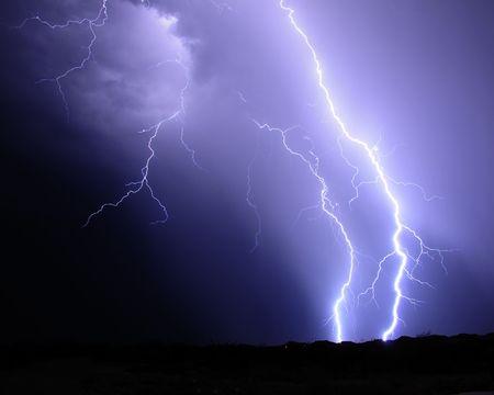 Desert Lightning Imagens - 3391486