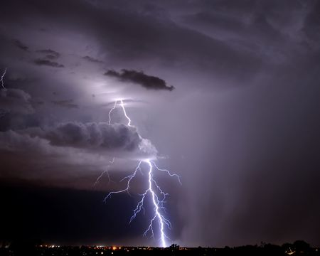 Tucson Lightning Stock Photo - 3431269
