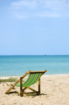 only beach area is in focus.