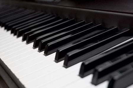 acoustically: Piano Key Closeup