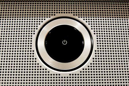 Black Plastic Power Button close-up