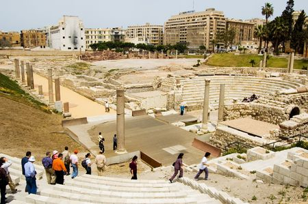 alexandria: Rome Theatre in Alexandria, Egypt Stock Photo