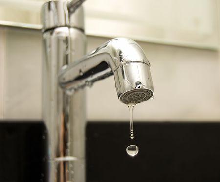 Water tap closeup Stock Photo