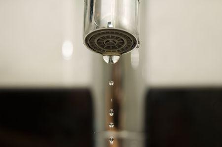 Water tap closeup 免版税图像