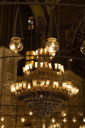 mohammed: Chandelier inside Mohammed Ali Mosque in Egypt
