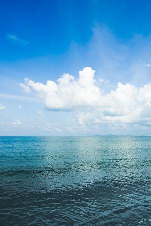 Clouds over sea 免版税图像