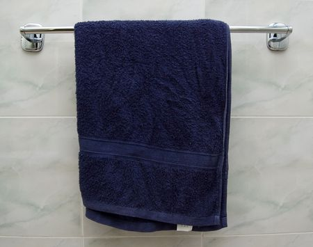 Hanging Blue Towel photo