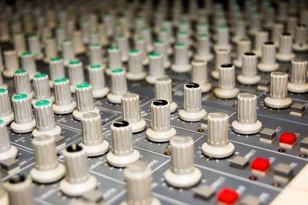 closeup of a studio mixer photo