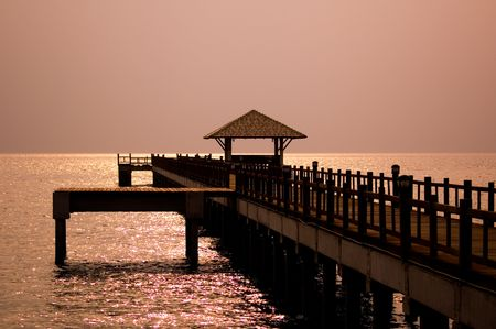 Bridge at the Dawn. Stock Photo