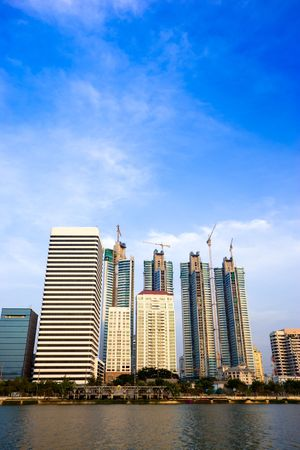 Photo of building in Bangkok shot with wide angle lens
