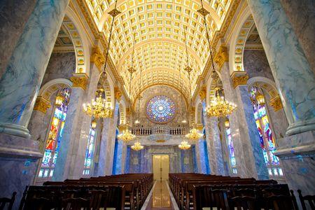 Interior of a Church in Bangkok, Thailand.