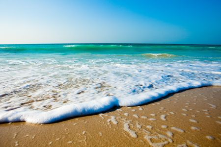 Gorgeous Beach in Summertime Stock Photo