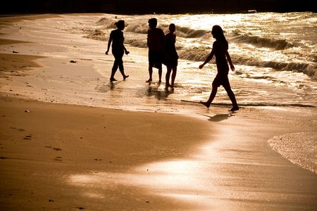 Group of people on the beach