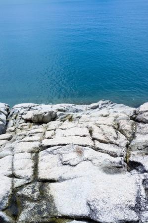 Ocean cliff shot at Samui island in Thailand.