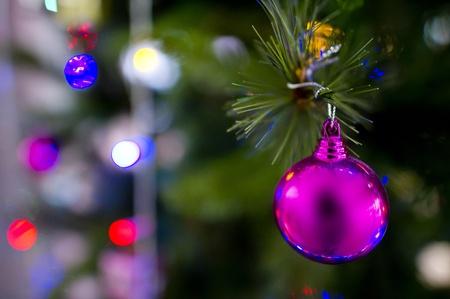 Christmas Ornament hanging on Christmas tree.