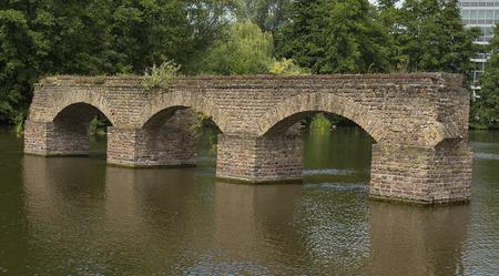 unreachable: Old bridge in water