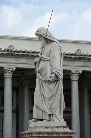 recollection: statues of St. Paul Placed in the colonnade of the basilica