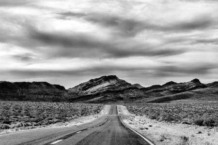 American landscape with a road