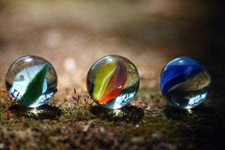 three marbles outdoor