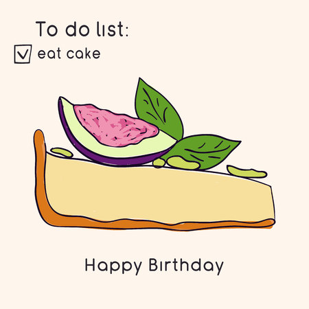 Birthday greeting cards. Doodle style collection of cakes. Sweets and pastries. Vector illustration