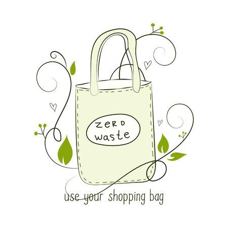 Zero Waste Concept Hand drawn elements of zero waste life. Vector illustration. Imagens - 124976188