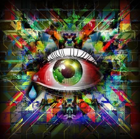Colorful Magic eye Stock Photo