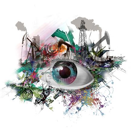 Handgetekende oogillustratie Stockfoto - 77905621