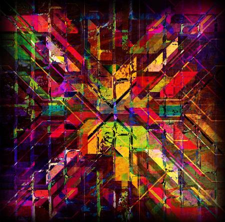 mirage: Colorful symmetrical illustration