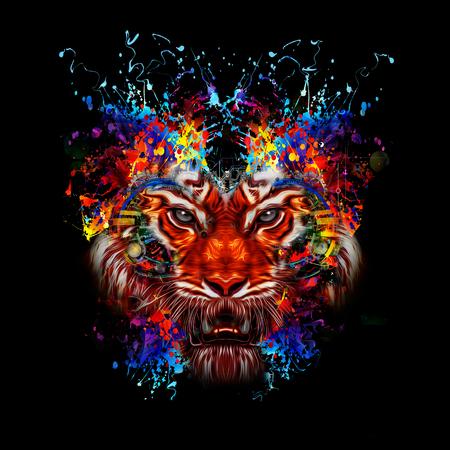 Kleurrijke illustratie van tijger Stockfoto