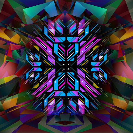 Bright abstract background with geometric shapes