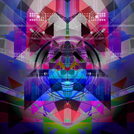 Abstract technology pattern illustration