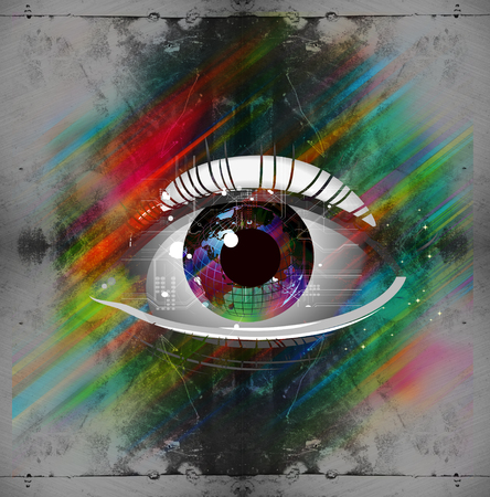 Esoteric abstract illustration of eye