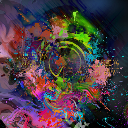 Illustration of abstract grungy colorful background Stock Photo
